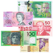set of banknotes