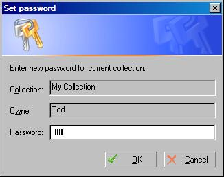 Collection Studio: Set Password Dialog